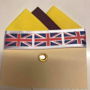 Yellow & Brown Pocket Hankie With Pin